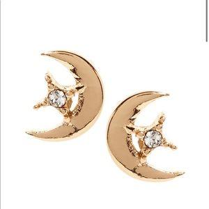 Banana Republic Moon and Stars Stud Earrings NWT!